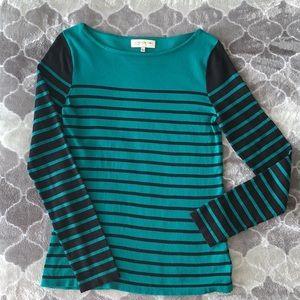 Jones New York Striped Long Sleeve Sweater / Top